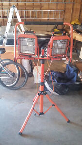 Dual Head Work Lights with Tripod Stand Price Drop!