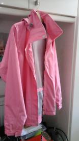 Ladies pink waterproof coat