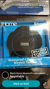 iHome waterproof Bluetooth speaker