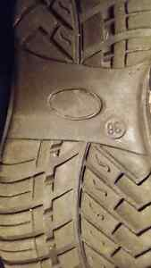 Dark brown real leather winter booths size 36 Cambridge Kitchener Area image 6