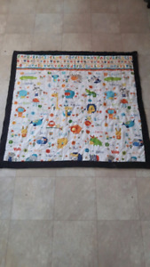 Animal alphabet baby quilt  REDUCED PRICE