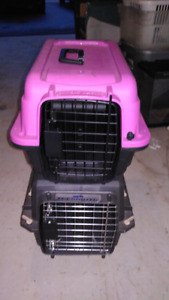 2 Travel cages for small dog/cat