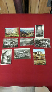 SET OF 9 VINTAGE YVON POSTCARDS - VARIOUS AGES - VARIOUS SUBJECT