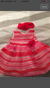 Brand new dress with matching headband and diaper cover