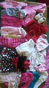 lot 3-6 month girls clothing like new condition