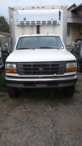 97 ford super duty 7.3 diesel with refer box as is