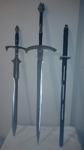 Three Decorative Stainless Steel Sword