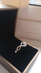 Sterling Silver People's Diamond Ring