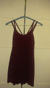 Burgundy Beaded Dress, Size Small
