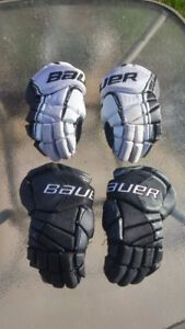 "Bauer Vapor X50 Gloves 12"" (White) and/or X40 Gloves 12"" (Black)"