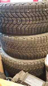 235/55r17 Firestone Winterforce tires and rims $275.