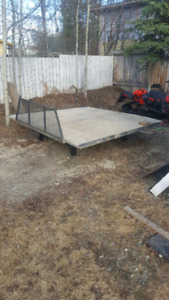 Steel sled deck with ramps