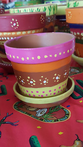 Mexican Style Painted Flower Pots $6-$25