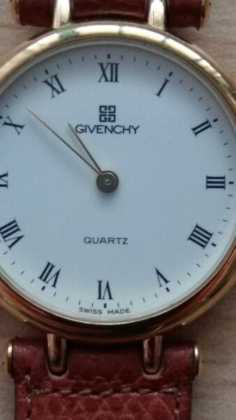 Authenric Ladies Givenchy Gold Quartz Watch with leather Band - BEAUTIFUL & STYLISH