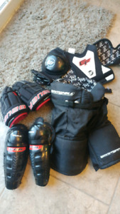 Kids Approx age 5 Hockey Pants, Gloves, Shin Pads, Shoulder Pads