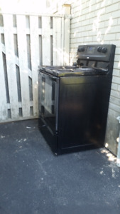 "30"" Black coil top electric stove oven range"