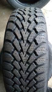 185/65R14 Goodyear Nordic winter tires (2) like new