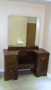 Antique vintage solid wood dresser