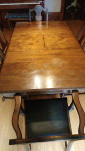 Walnut Table and Chairs