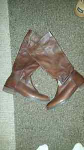 Real leather boots size 8