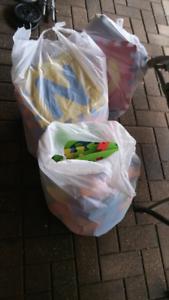 3 bags of foam leters