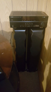 Yamaha multi port amp and mission surround sound speakers