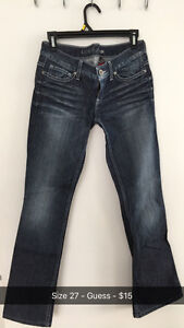 Size 27 and 28 Jeans - Guess, Juicy Couture and Hollister