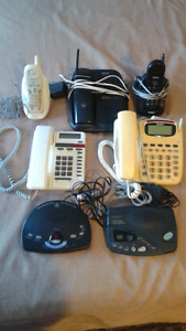 ssorted phones and answering machines