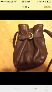 Vintage coach brown leather bag