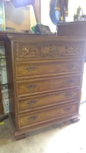 Solid wood antique dresser