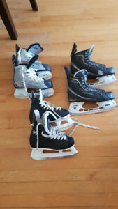 Ice skate lot 3 pairs from size 3 to 8.5