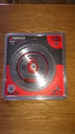 ABRACS TCT190/40 CIRCULAR SAW BLADE 190MM X 30MM X 40T