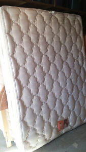 Queen Bed Mattress, Boxspring and Frame - Can Deliver