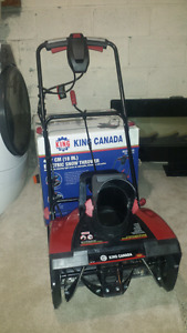 King snow thrower , Delivery  available