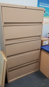 5-Drawer Lateral Filing Cabinet - $250.00 or make an offer