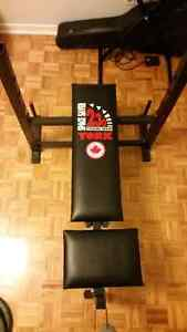 Workout bench + weights West Island Greater Montréal image 2