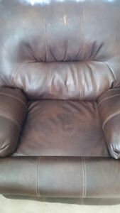Brown Leather Wall-Hugging Power Recliners London Ontario image 3