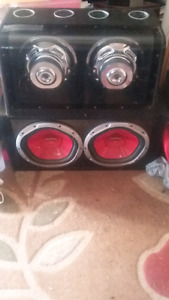 2 pairs of 12 inch 1200W car subs