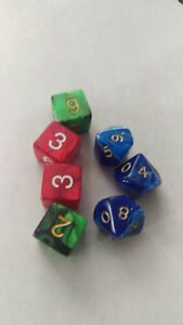 Ass't Pearl Swirl Dice x7
