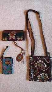 Authentic Fossil Wallet,Crossbody purse,handbag...for SALE