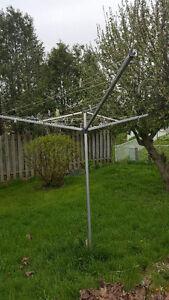 Clothesline Pole system