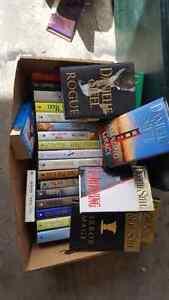 Danielle steel hard cover books large box full