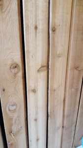 "Redwood Cedar Boards ""large lot"""