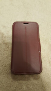 Like New Brown leather Otterbox Strada Galaxy S6 case