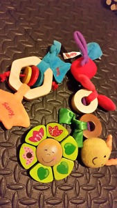 Wooden toys for babies.