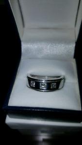 3 Diamond - 14k Gold Ring - Custom Made