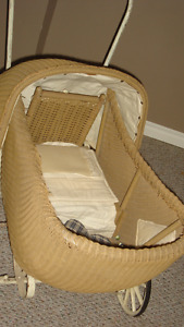 Old Wicker Baby Carriage