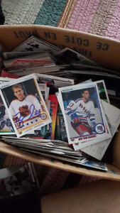 old box of hockey cards