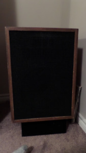 Klipsch Heresey speakers and stands