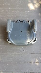 Booster seat back removed